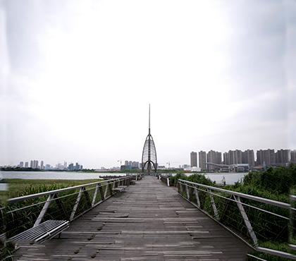 吴江金城湾不锈钢风帆