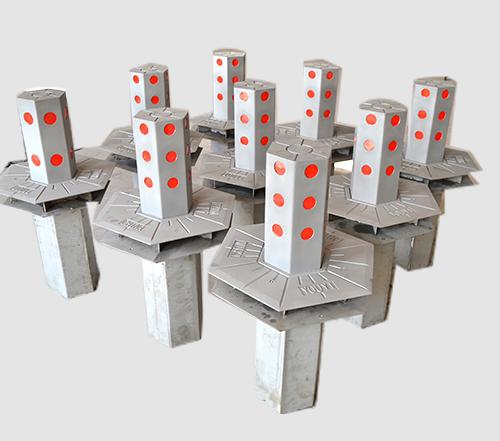 六角形式挡车柱